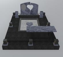 3Д  проект синий гранитный комплекс.