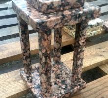 Изготовление лампад из натурального камня в Калининграде. В наличии более 10 цветов гранита. Стоимость от 4000 руб.