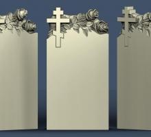 Памятник с крестом и розами. Проект на утверждение нашим клиентам. В последствии он будет из белого натурального мрамора.