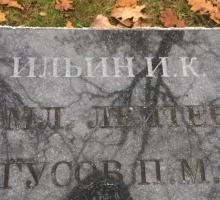 Нанесение углубленных (рельефных, структурных) букв с помощью пескоструйной обработки (метода). Делали на месте в Чкаловске на военном захоронении.
