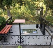 Комплект стол и  скамейка дерево/металл