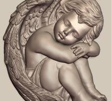 Проект барельефа. Ангелок.