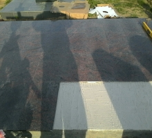 Укладка гранитной плитки на супер-эластичный клей производства США