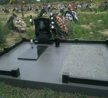 Памятник+ плита + ваза+место для подхоронки+гранитный бордюр (от 60 000 руб)
