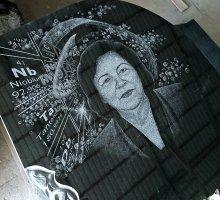 Фон под портрет сделанный вручную художником
