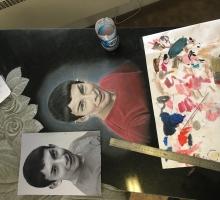 Цветной портрет. Работа нашего художника.