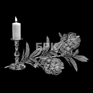 свеча и пионы
